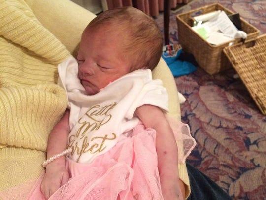 Aleisa Albright gave birth to her daughter, Jordan,