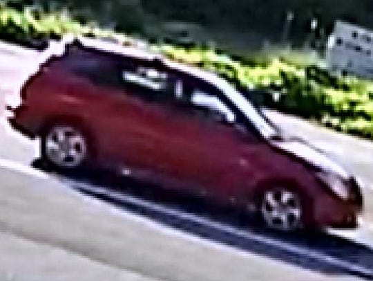 Pictured is the Pontiac Vibe that authorities believe