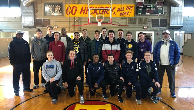 They also took a trip to see the Hoosier gym.