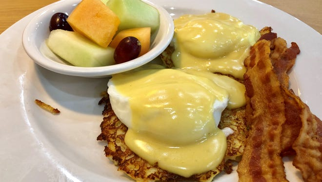 The potato cake Benedict from Eggcetera Breakfast & Lunch in south Fort Myers.