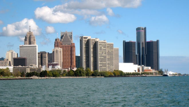 The skyline of the City of Detroit.