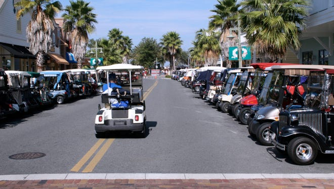 Golf carts must follow the same rules of the road as other vehicles.