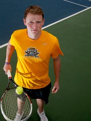 NKU tennis player Nick Lang