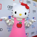 BEVERLY HILLS, CA - JUNE 09: Hello Kitty arrives at the 1st Annual Children Mending Hearts Style Sunday on June 9, 2013 in Beverly Hills, California.