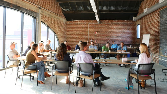 A ScaleUp WNC 2015 cohort gathers to receive intensive growth strategy development and implementation assistance.