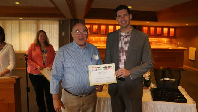 Bill Haack was recognized during the United Way of Inner Wisconsin's Volunteer Breakfast on Thursday for opening the Heroes Café in Wisconsin Rapids for veterans, law enforcement and fire fighters.
