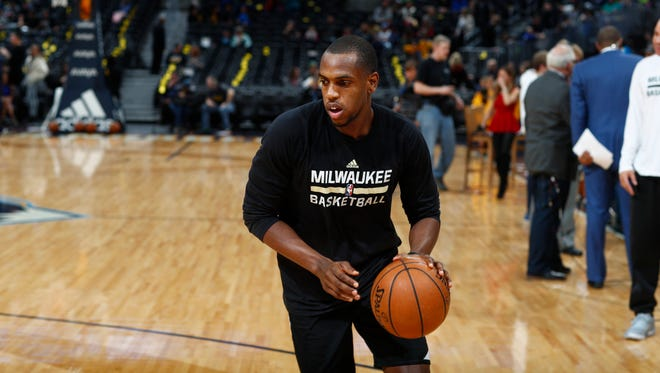 Bucks guard Khris Middleton is key to Milwaukee's playoff hopes after returning from a hamstring injury last week.