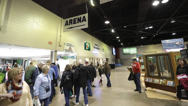 The interior of Shopko Hall during  the WBAY Home & Garden Show. Officials are trying to determine the best course of action to address the outdated building.