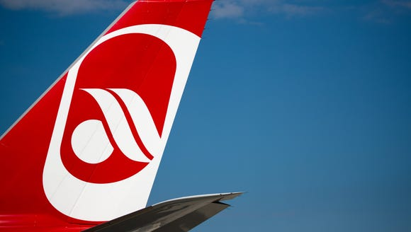 An Air Berlin plane is seen at Berlin's Tegel Airport