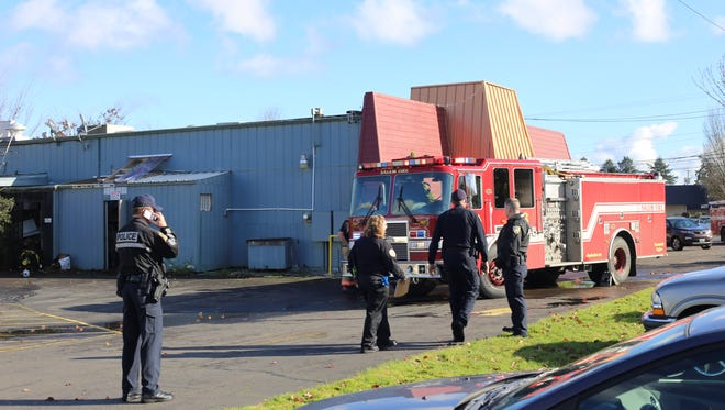 Firefighters and police responded to a suspicious restaurant fire at 501 Grill in north Salem on Friday, Nov. 24, 2017.