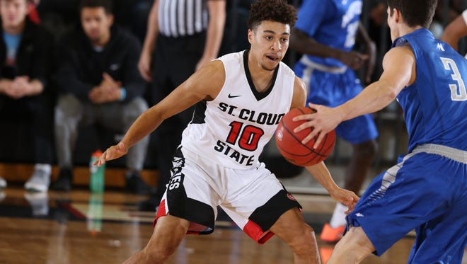 St. Cloud State earned an at-large berth in the NCAA Division basketball tournament and will play Southern Nazarene on Saturday in Maryville, Missouri.
