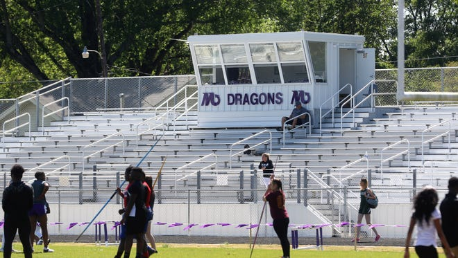 Mangham hosted its first ever junior high and high school track meet on Monday and Tuesday. It was the only school in Richland Parish without a track.