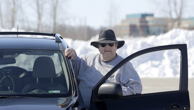 Lyft driver Brian Barton drove hundreds of miles during the height a spring blizzard that dropped more than 2 feet of snow on Green Bay April 14 and 15.