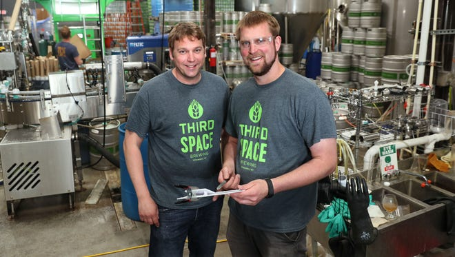 Andy Gehl (left) and Kevin Wright the co-owners of Third Space Brewing. Third Space Brewing at 1505 W. St. Paul Ave. in Milwaukee.
