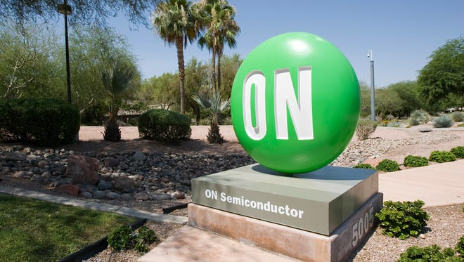 The ON Semiconductor marker at 5005 E. McDowell Road in Phoenix, as photographed in July 2008.