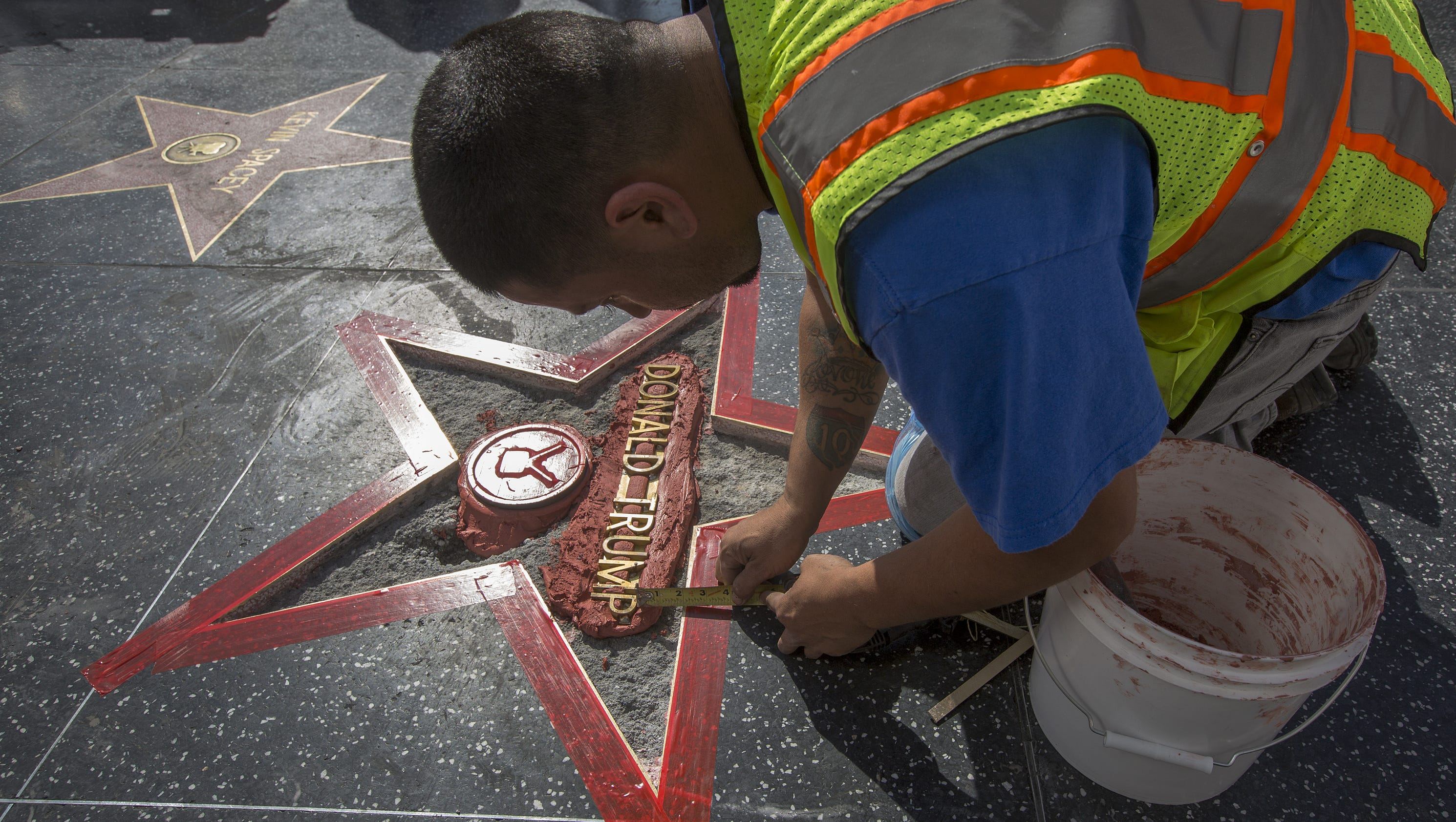 Lapd Arrests Suspect In Trump Walk Of Fame Vandalism Case