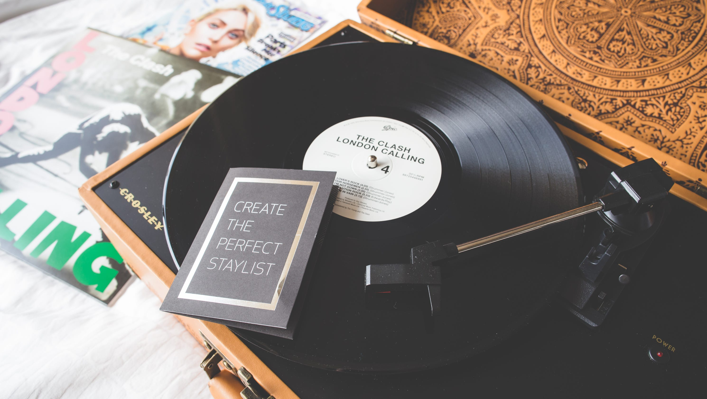 turn down with a turntable at this hotel vinyl is back. Black Bedroom Furniture Sets. Home Design Ideas
