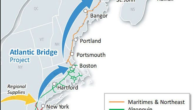 Spectra Energy's proposed Atlantic Bridge Project would deliver natural gas to New England and Canada