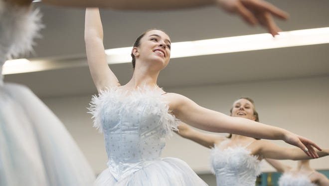 Rylie Lang dances during a dress rehearsal for the Nutcracker at Canyon Concert Ballet Wednesday, December 2, 2015. The dance company is hosting their annual production of the ballet with the Fort Collins Symphony Orchestra starting December 11 at the Lincoln Center.