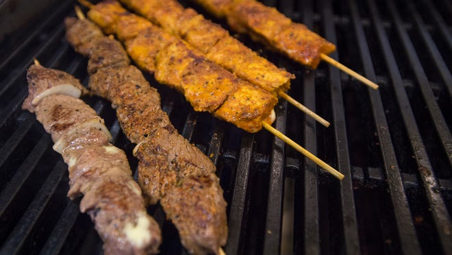 Kabobs are grilled in the kitchen at Maza Kabob, 2427 S. College Ave. The Afghan restaurant is one of the best places for lunch in Fort Collins based on TripAdvisor reviews.