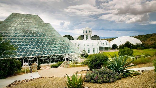 Exterior shot of Biosphere 2.