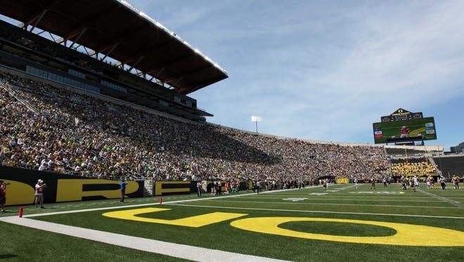 Autzen Stadium in Eugene, Oregon.