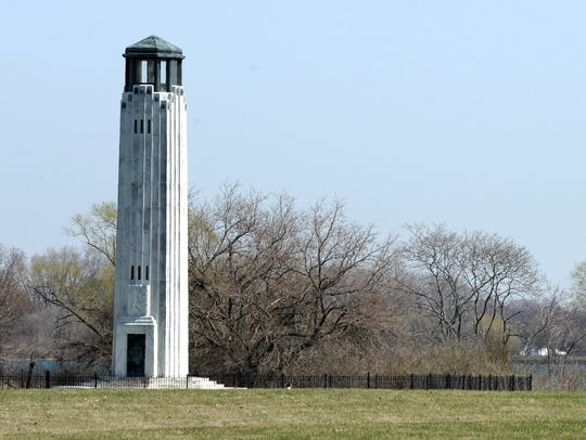 The Livingstone Memorial Lighthouse stands today; it
