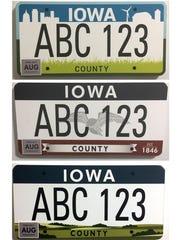 Iowa license plate designs