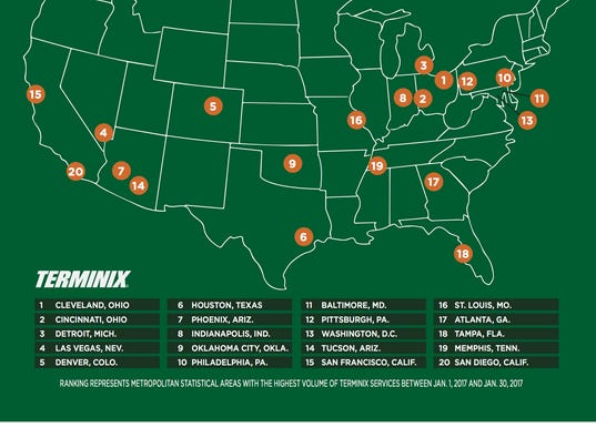 Detroit Ranks Third On Terminix S Top Bed Bug Cities