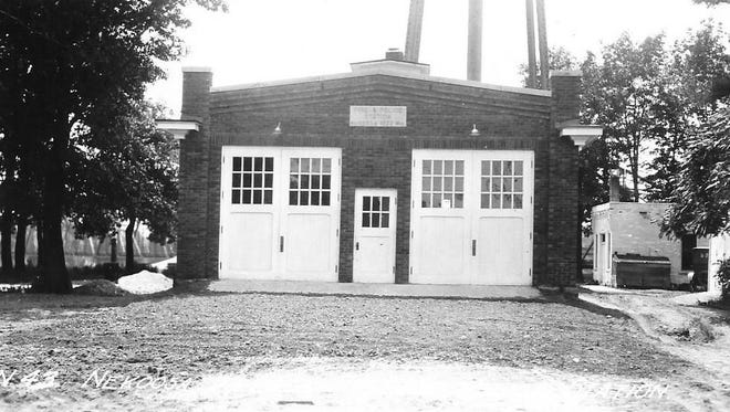 This is how the 1920 fire house looked when new. It has been added on to and used for storage by the Nekoosa Fire Department and Nekoosa Police Department.