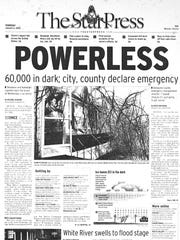Thousands of residents were without power for days during the ice storm of 2005.