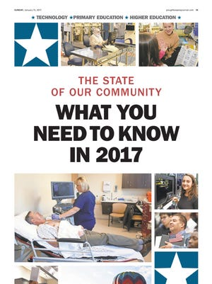 The cover of the State of Our Community section in the Poughkeepsie Journal on Jan. 15, 2017