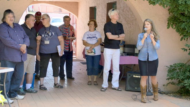 Maggie Toulouse Oliver held a meet and greet in Silver City on Sunday.