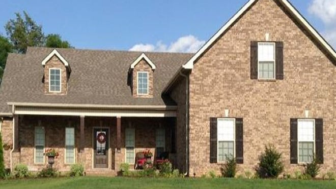 This house, at 2614 Cloverfields Court in Murfreesboro, was built in 2014.