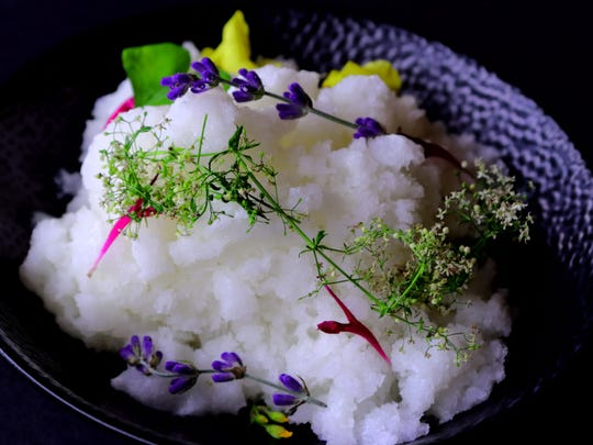 It looks like snow. It even has the texture of snow. But 17 Summer's seasonal granita tastes like lemon-y heaven.