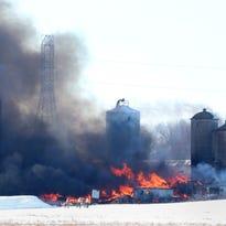 Two cows killed in Ellington barn fire