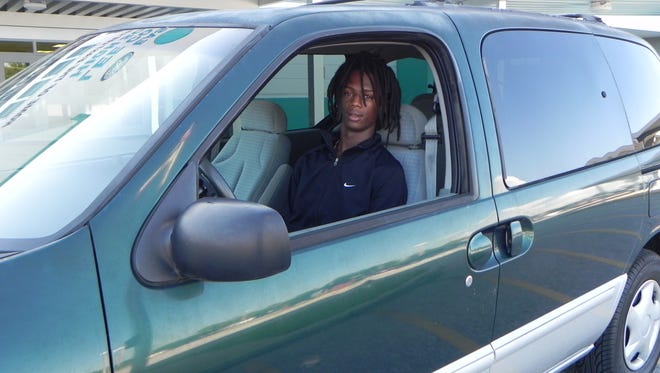 East Lee County High senior Romeo Battle, 18, won a 1999 Mercury Villager minivan in a school competition promoting positive behavior.
