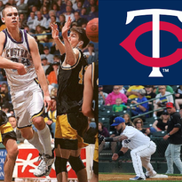 LEFT: Derek Paulsen (center), a star player at Custer, was destined for great things at the Division-I college basketball level. Paulsen and his girlfriend, Eva Wahlstrom, were killed in a head-on car accident in 1999. RIGHT: Sioux Falls Canaries infielder David Bergin (left) is hitting .353 with 4 homeruns and 26 RBI. He is in his fifth pro season.