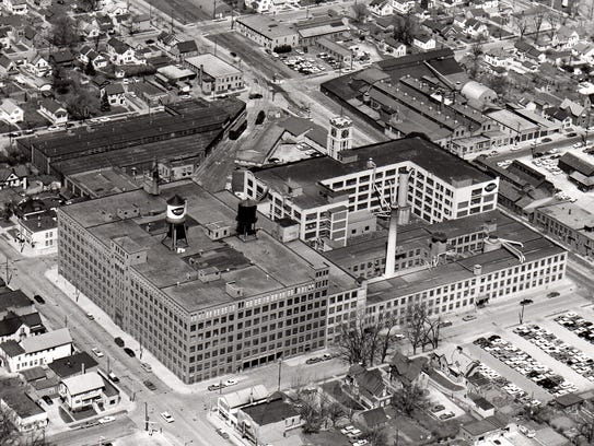erial view of Mirro Plant 2, South 15th and Washington