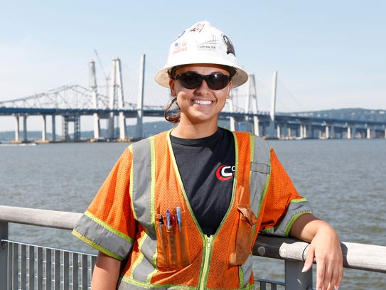 Field engineer Alessandra Rosso photographed on the