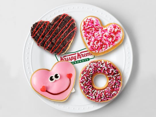 Krispy Kreme Valentine's Doughnuts are available through