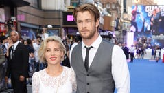 Chis Hemsworth and his wife Elsa Pataky attend the