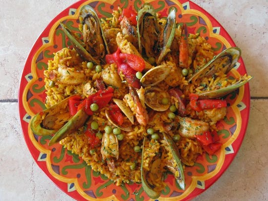 The Paella Fernandez from Fernandez The Bull Cuban Cafe in Naples.