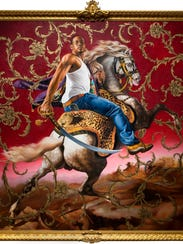 'Officer of the Hussars,' by artist Kehinde Wiley.