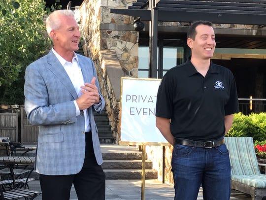 Toyota Division general manager Jack Hollis and NASCAR