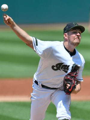 Trevor Bauer struck out 13 and pitched into the eighth inning Sunday, but his bullpen let him down.