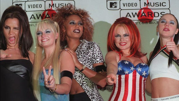 The Spice Girls at the MTV Video Music Awards in 1997, back in the glory days.
