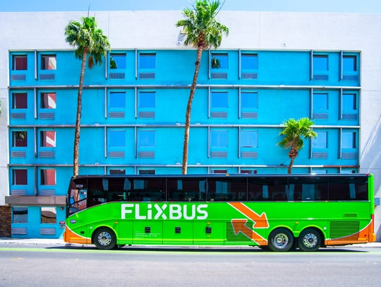 Flixbus' signature green and orange buses have become