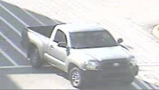 A truck driven by a suspect of a theft at Wal-Mart on October 17.