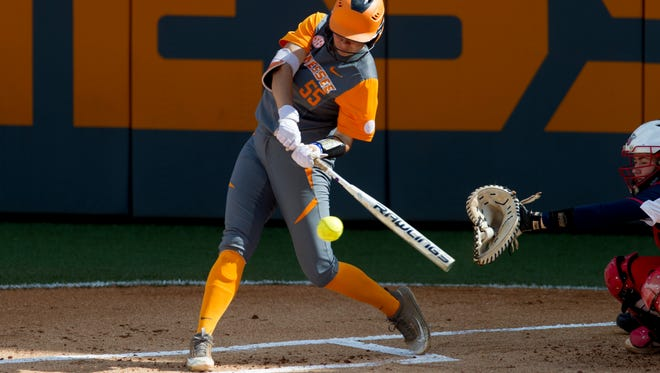 Tennessee's Meghan Gregg is batting a team-high .440 with 18 doubles, 14 home runs and 77 RBIs.